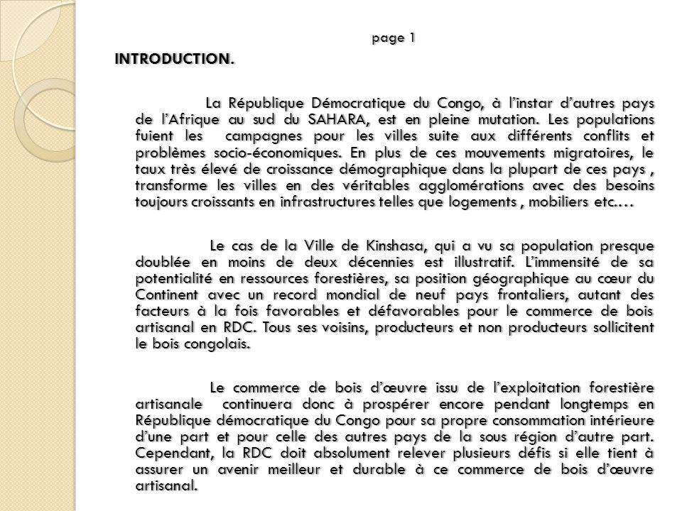 page 1page 1INTRODUCTION. La République Démocratique du Congo, à linstar dautres pays de lAfrique au sud du SAHARA, est en pleine mutation. Les popula