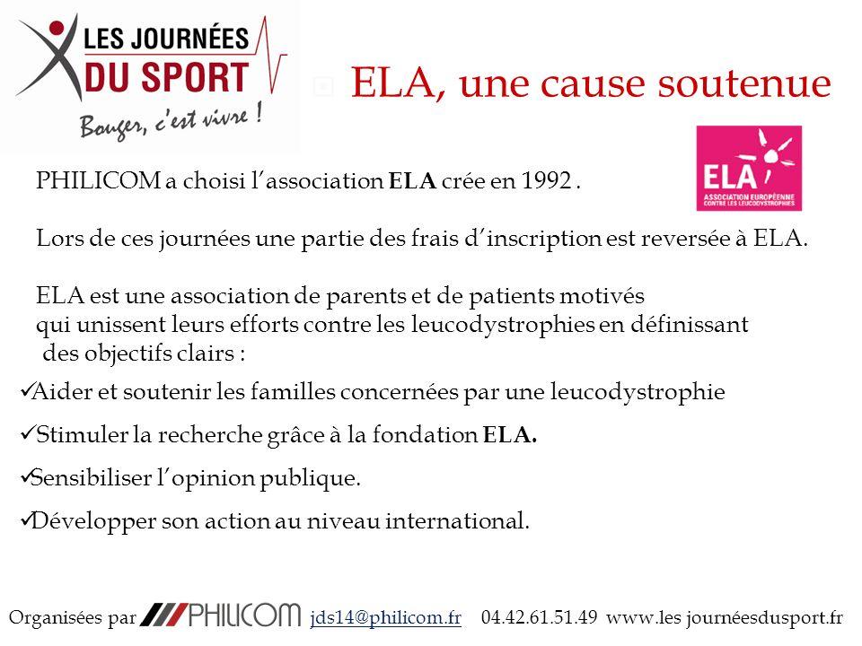 ELA, une cause soutenue PHILICOM a choisi lassociation ELA crée en 1992.