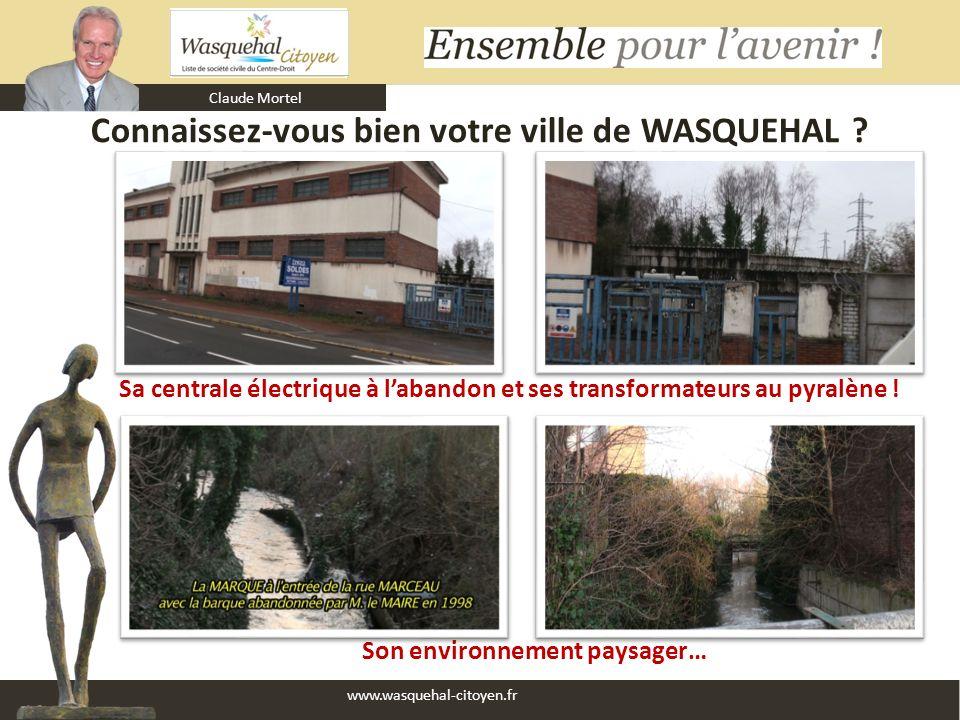 Claude Mortel www.wasquehal-citoyen.fr Connaissez-vous bien votre ville de WASQUEHAL ? Son environnement paysager… Sa centrale électrique à labandon e