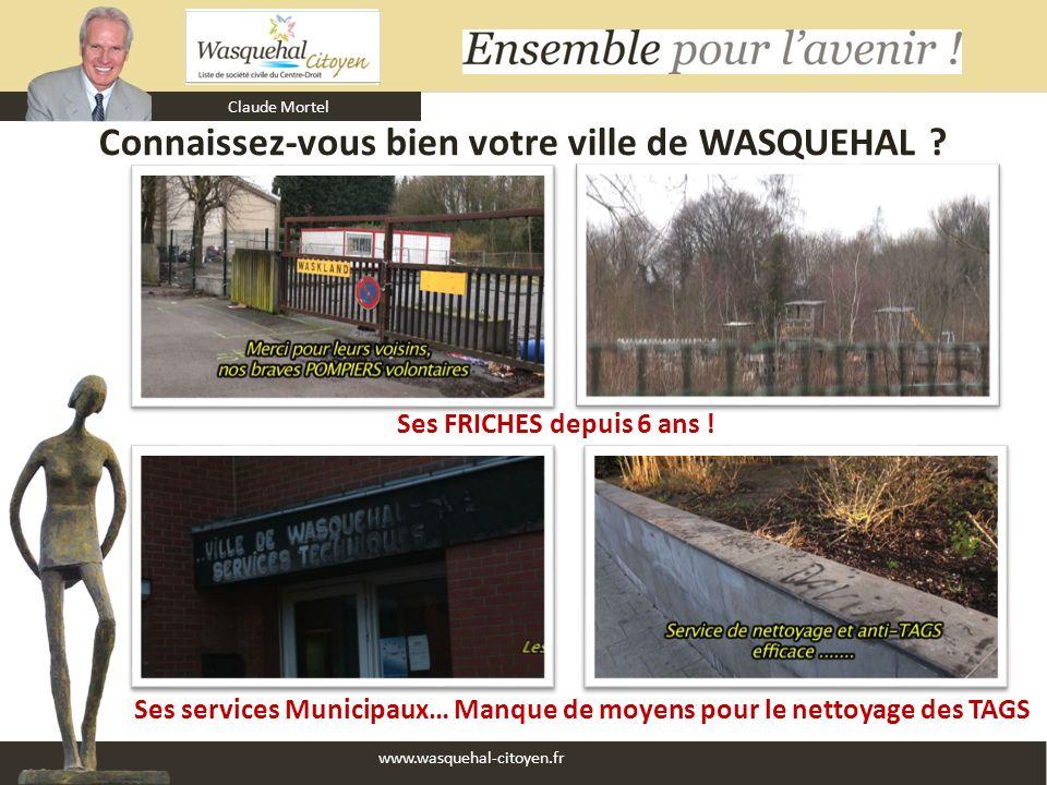 Claude Mortel www.wasquehal-citoyen.fr Connaissez-vous bien votre ville de WASQUEHAL ? Ses services Municipaux… Manque de moyens pour le nettoyage des