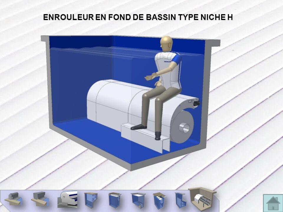 ENROULEUR EN FOND DE BASSIN TYPE NICHE H