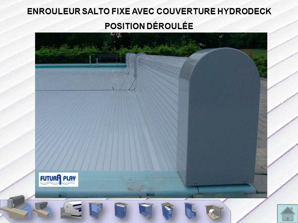 ENROULEUR SALTO PLUS AVEC SYSTÈME DE ROULEAUX GUIDEURS RETRACTABLES
