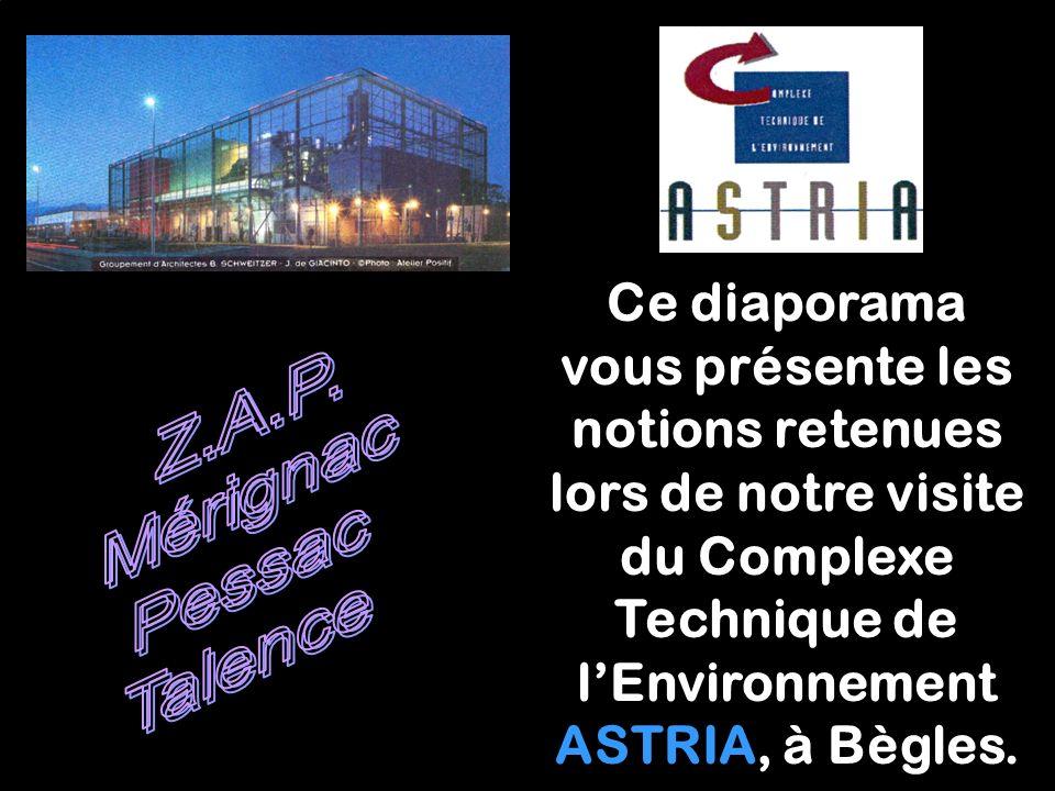 Ce diaporama vous présente les notions retenues lors de notre visite du Complexe Technique de lEnvironnement ASTRIA, à Bègles.