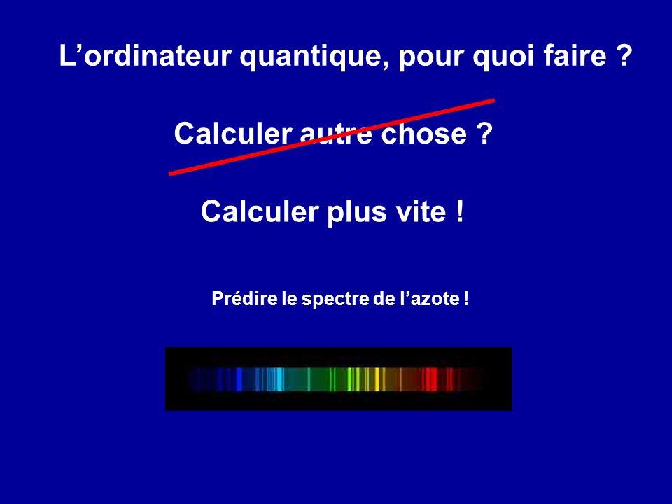 Lordinateur quantique, pour quoi faire .Calculer plus vite .