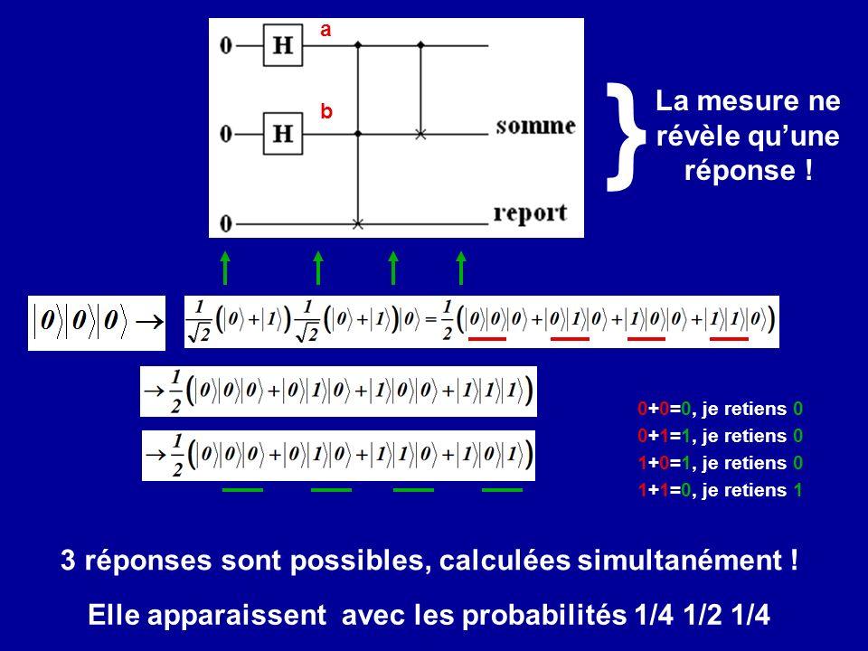 3 réponses sont possibles, calculées simultanément .