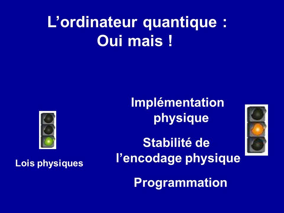 Lordinateur quantique : Oui mais .