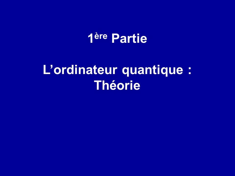 1 ère Partie Lordinateur quantique : Théorie