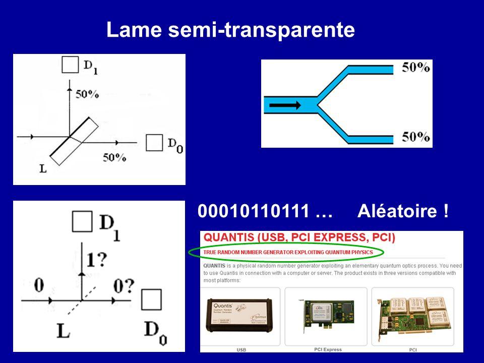 Lame semi-transparente 00010110111 …Aléatoire !