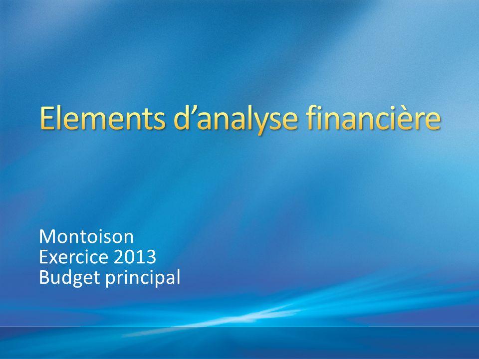 Montoison Exercice 2013 Budget principal