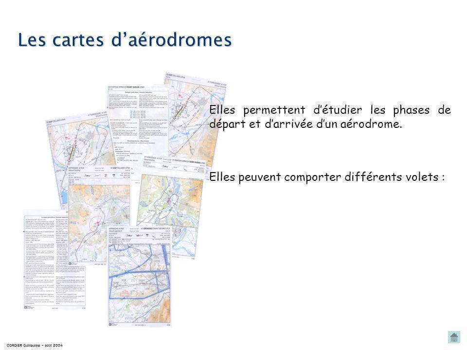 Les cartes daérodromes Elles permettent détudier les phases de départ et darrivée dun aérodrome.