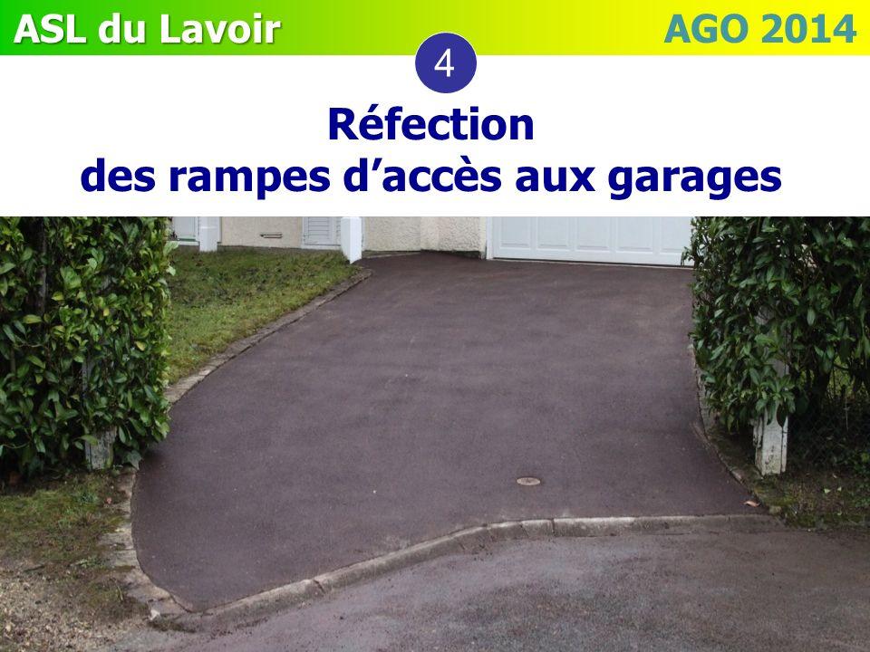 ASL du Lavoir ASL du Lavoir AGO 2014 Réfection des rampes daccès aux garages 4