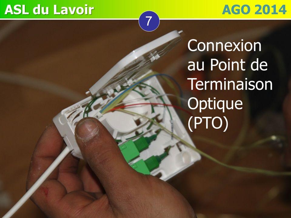 ASL du Lavoir ASL du Lavoir AGO 2014 7 Connexion au Point de Terminaison Optique (PTO)