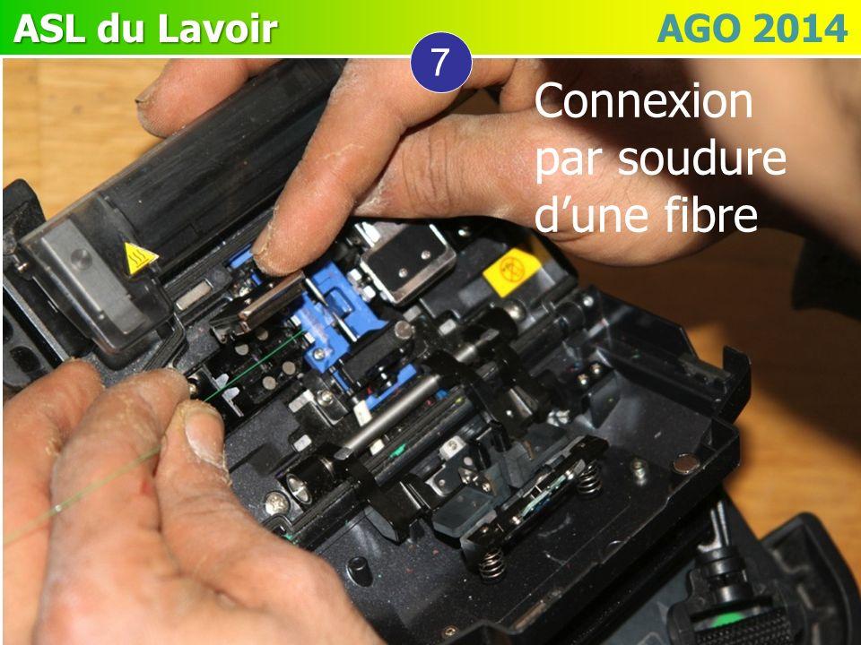 ASL du Lavoir ASL du Lavoir AGO 2014 7 Connexion par soudure dune fibre