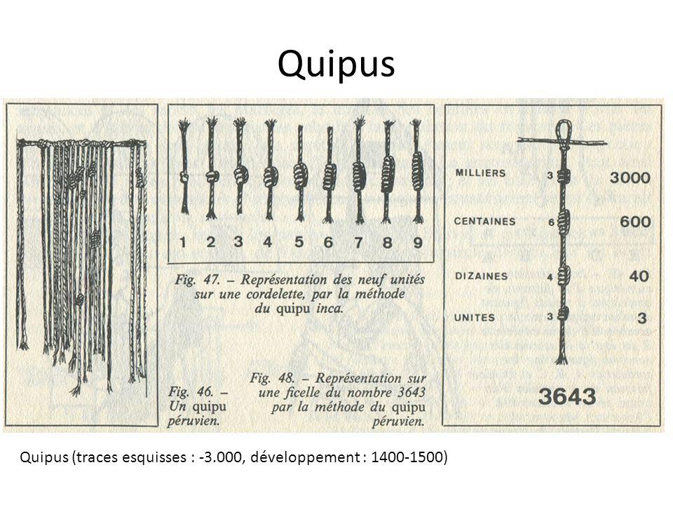 Quipus Quipus (traces esquisses : -3.000, développement : 1400-1500)