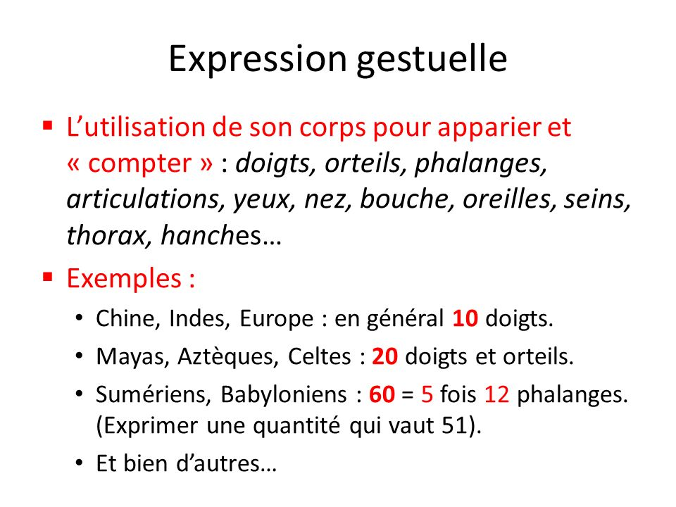 Expression gestuelle : 33