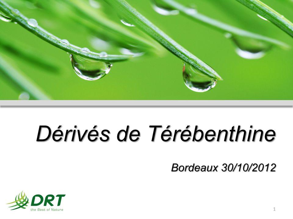 Dérivés de Térébenthine Bordeaux 30/10/2012 1