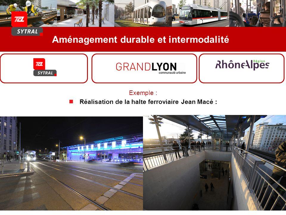 Aménagement durable et intermodalité Exemple : Réalisation de la halte ferroviaire Jean Macé :
