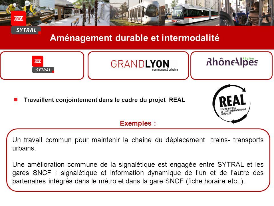 Aménagement durable et intermodalité Exemples : Un travail commun pour maintenir la chaine du déplacement trains- transports urbains. Une amélioration