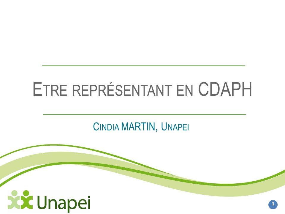 Etre représentant en CDAPH 2 I.