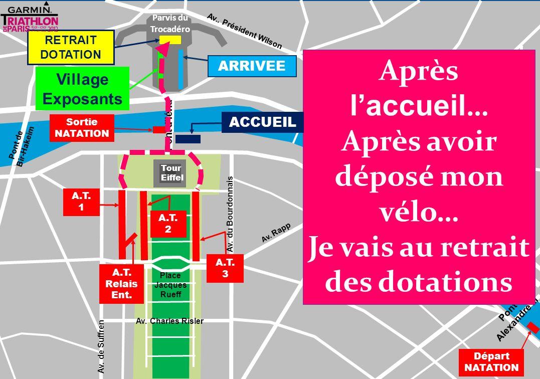 880 m Tour Eiffel Parvis du Trocadéro Pont de lAlma Pont de Bir-Hakeim Pont des Invalides Av.