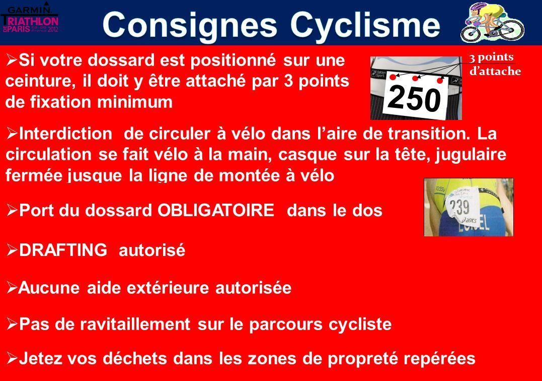 Interdiction de circuler à vélo dans laire de transition.