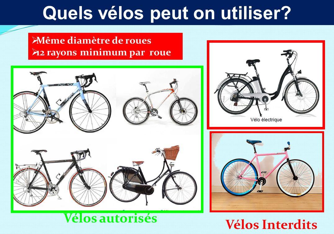 Quels vélos peut on utiliser.