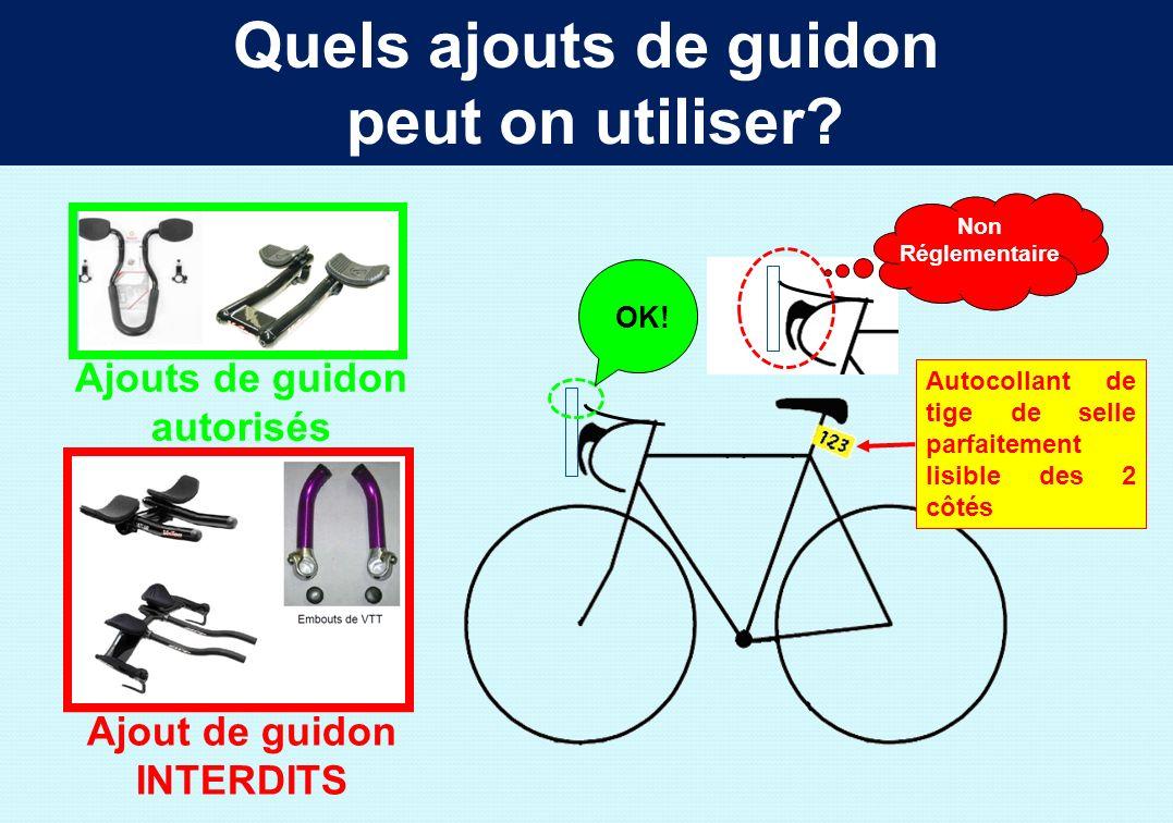 Quels vélos peut on utiliser? Vélos autorisés Vélos Interdits Même diamètre de roues 12 rayons minimum par roue