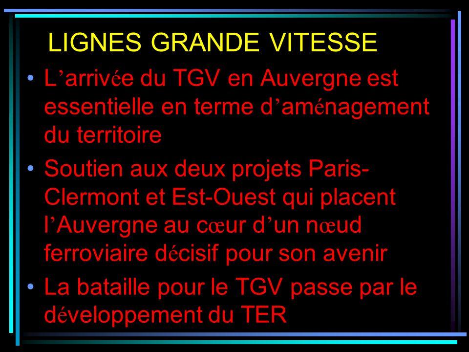 Le d é sengagement de l Etat : 81 M de dotation alors que le co û t du TER est de 100 M L Etat annonce un plan rail de 180 M + 33 M pour régénérer la ligne Bordeaux- Montluçon - Lyon ANNONCE DE L ETAT