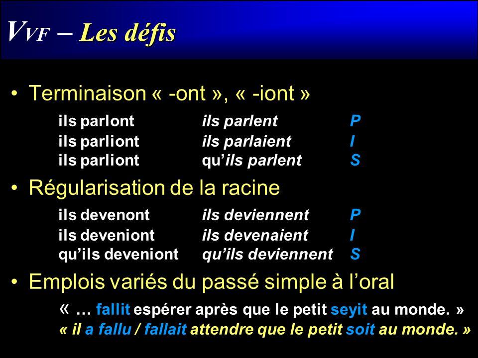 Conclusion… Létude effectuée jusquà présent commence à permettre de repérer les verbes « non standards » en français acadien, avec des résultats encourageants.