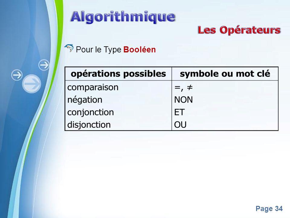 Powerpoint Templates Page 34 Pour le Type Booléen