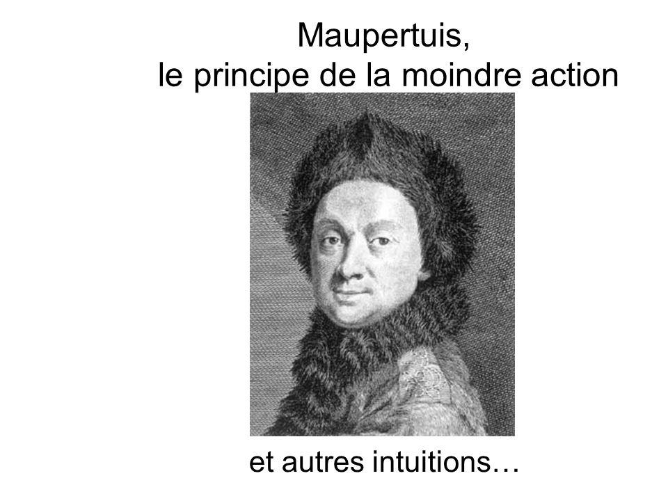Maupertuis, le principe de la moindre action et autres intuitions…