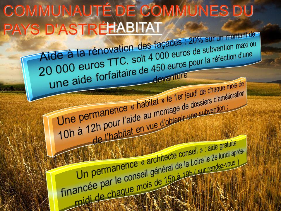 COMMUNAUTÉ DE COMMUNES DU PAYS D ASTRÉE HABITAT