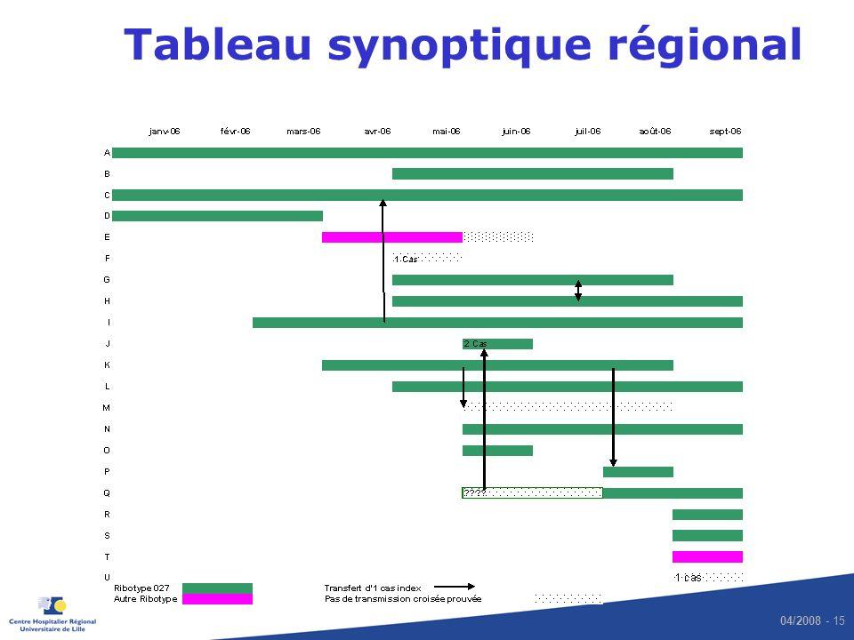 04/2008 - 15 Tableau synoptique régional