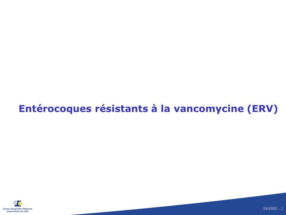 04/2008 - 2 Entérocoques résistants à la vancomycine (ERV)