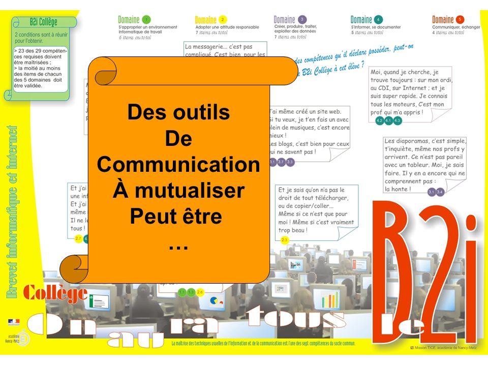 Des outils De Communication À mutualiser Peut être …
