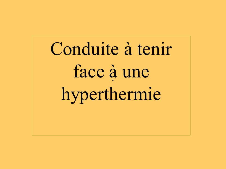 . Conduite à tenir face à une hyperthermie