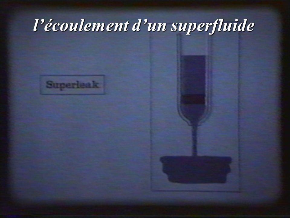 lécoulement dun superfluide