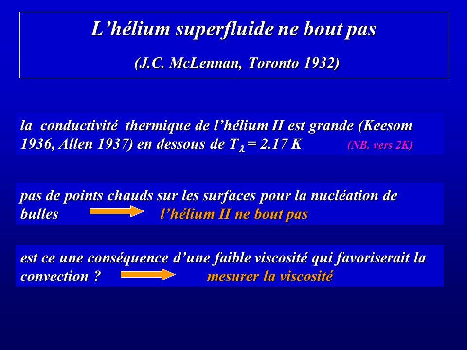 Lhélium superfluide ne bout pas (J.C.