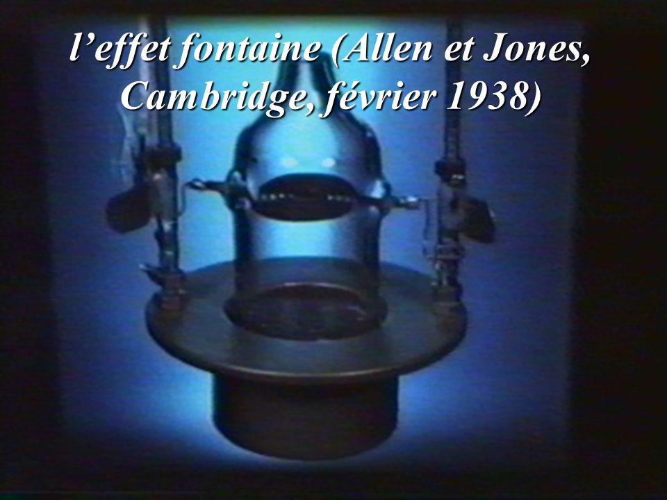 leffet fontaine (Allen et Jones, Cambridge, février 1938)