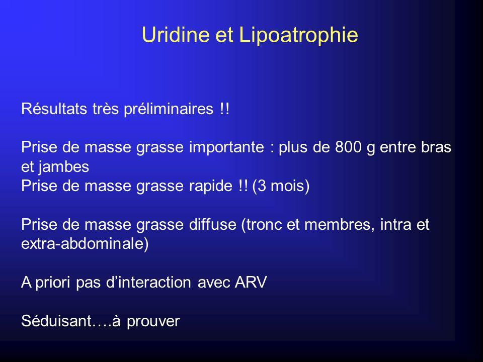 Uridine et Lipoatrophie Résultats très préliminaires !.