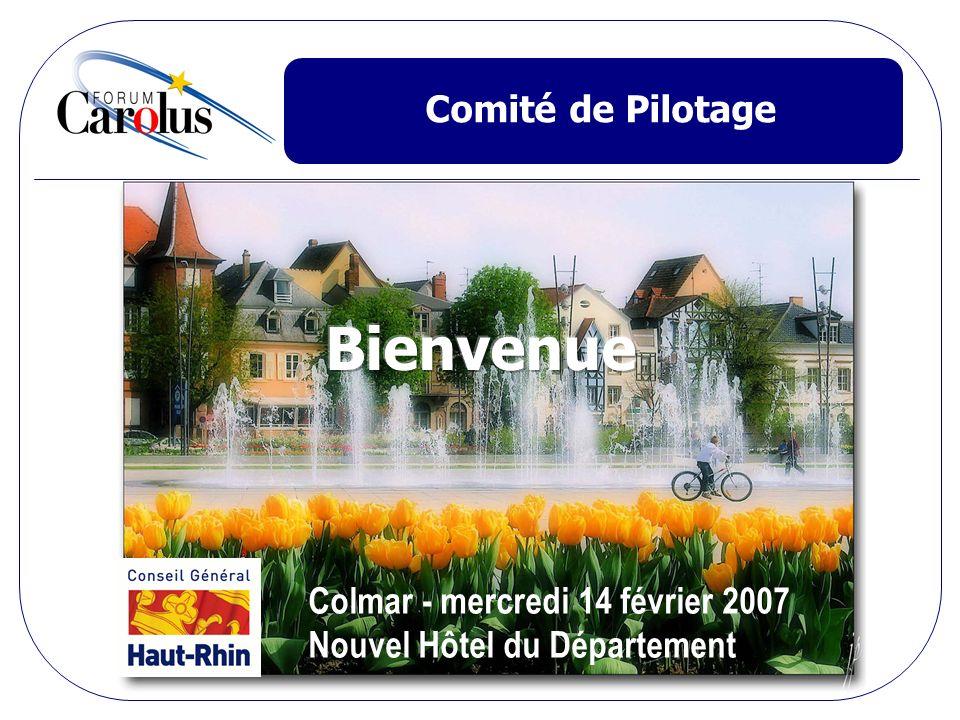 Comité de Pilotage Colmar - mercredi 14 février 2007 Nouvel Hôtel du Département