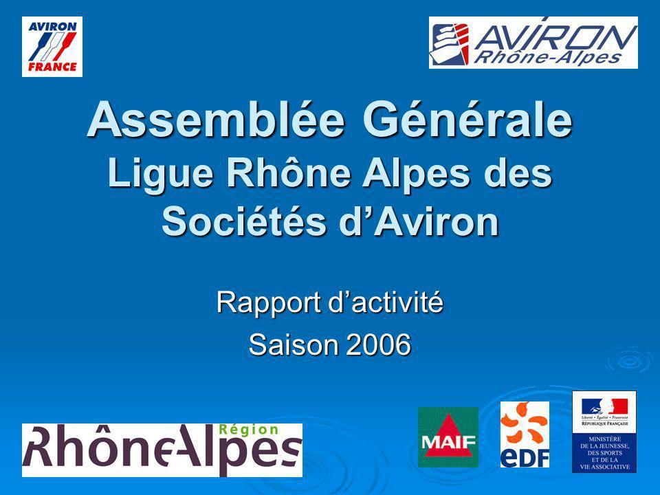 Assemblée Générale Ligue Rhône Alpes des Sociétés dAviron Rapport dactivité Saison 2006