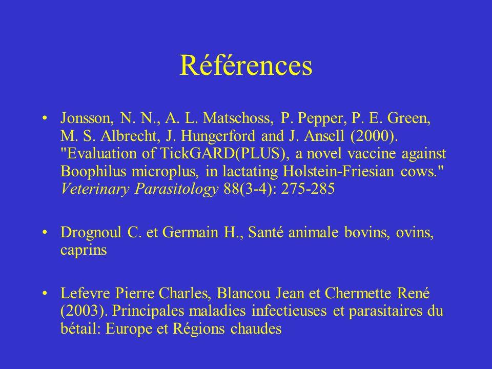 Références Jonsson, N.N., A. L. Matschoss, P. Pepper, P.