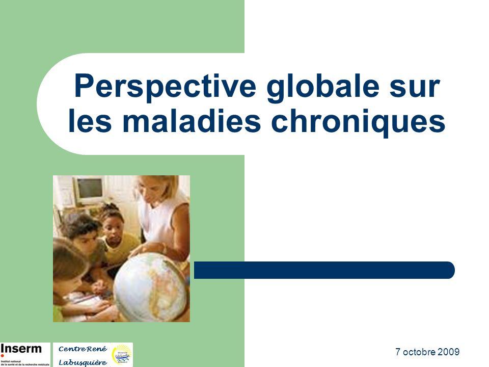7 octobre 2009 Perspective globale sur les maladies chroniques Centre René Labusquière