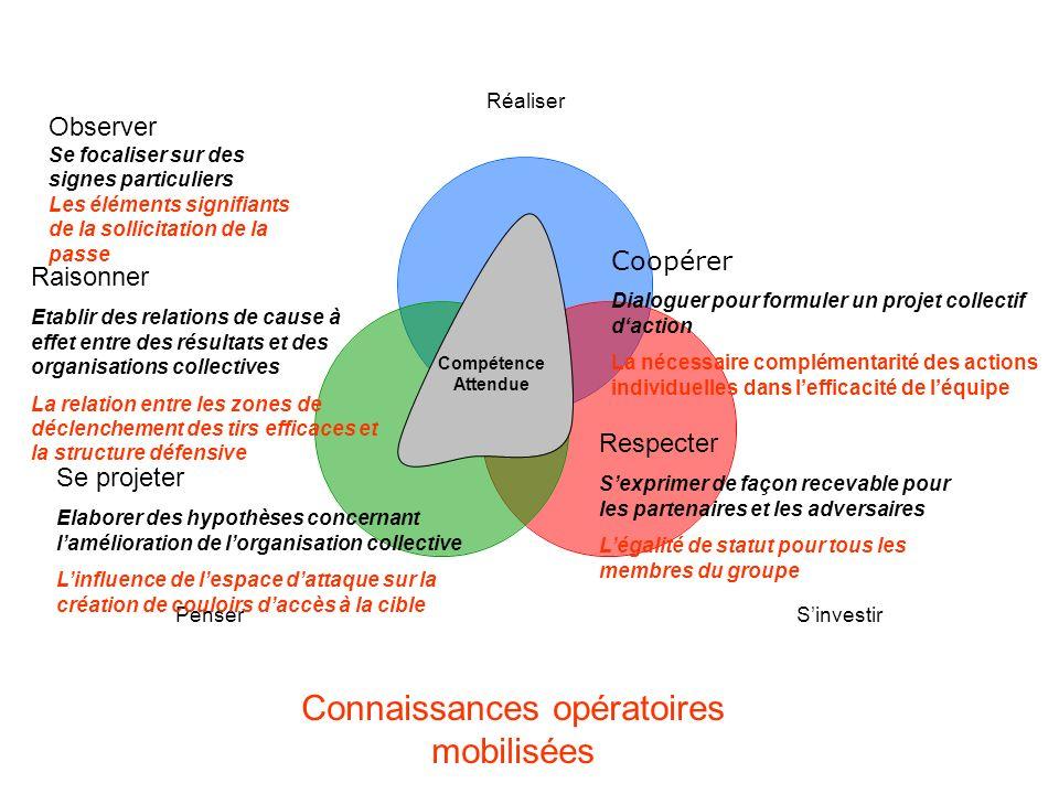 Compétence Attendue Raisonner Etablir des relations de cause à effet entre des résultats et des organisations collectives La relation entre les zones