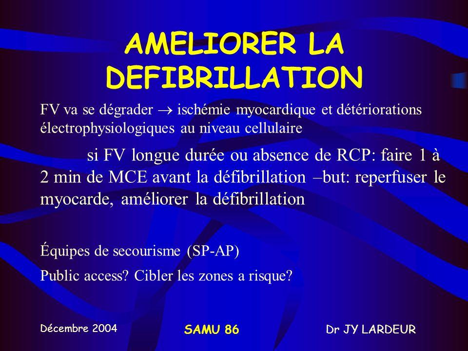 Décembre 2004 Dr JY LARDEURSAMU 86 RECUEIL ET TRANSMISSION DE DONNEES OBLIGATION LEGALE MEMOIRE DE LA RCP: tracé et évènements