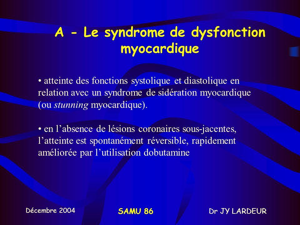 Décembre 2004 Dr JY LARDEURSAMU 86 10 - DIVERS