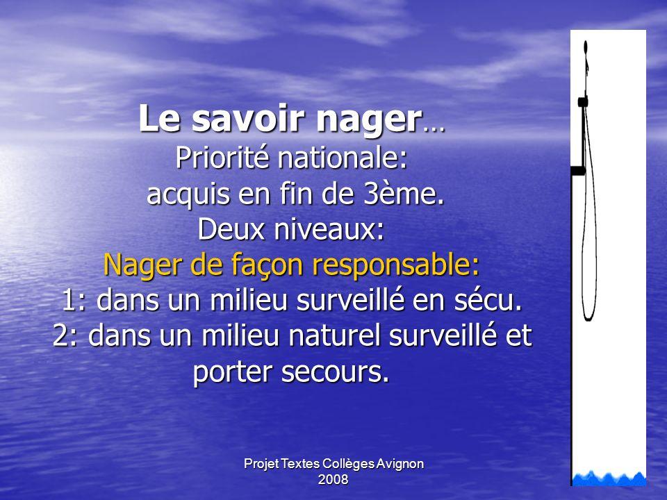 Projet Textes Collèges Avignon 200810 Les APSA Demi fond, haies,hauteur, javelot,pentabond, relais,nat longue,nat vit, caKa, co, esc,aérobic,acro, gym