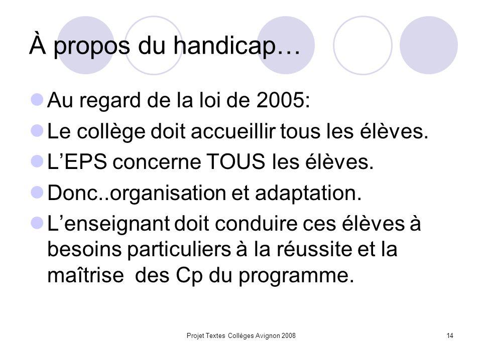 Projet Textes Collèges Avignon 200813 La programmation: Toutes les compétences CP et CMS.