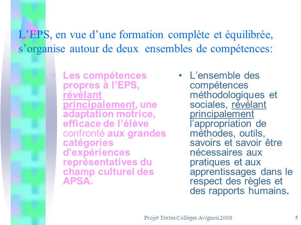 Projet Textes Collèges Avignon 20084 Trois Objectifs par la pratique, pour tous, articulés et sans ordre de priorité.